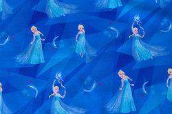 Cobolt-blue cotton-jersey with Elsa