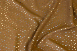 Cognac-colored bluseviscose with small silver speckle