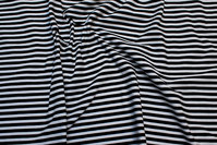 Cotton-jersey, 7 mm stripes in black and white