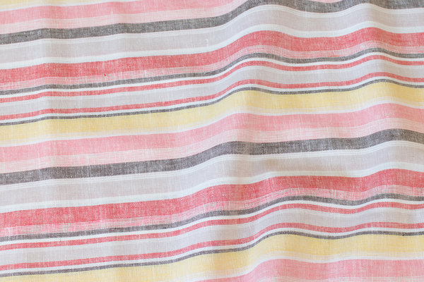 Cotton and linen with summer-stripes