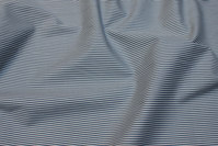 Cotton-poplin in 2 mm narrow-striped grey and white