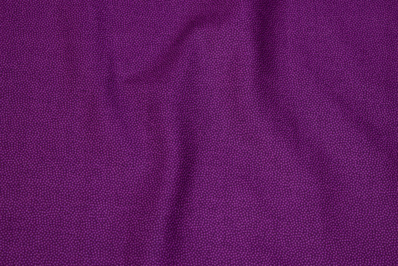 Dark red-purple cotton with light-purple mini-dots