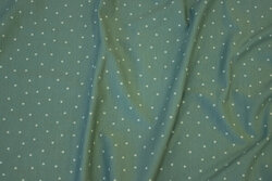 Dusty-green cotton-jersey with lighter mini-stars