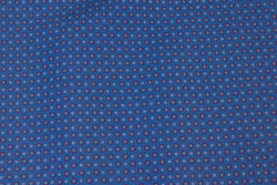 Firm, blue cotton with small circles