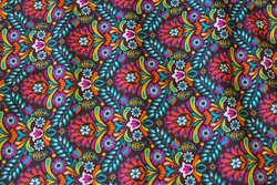 Firm cotton with multicolors in retro-style