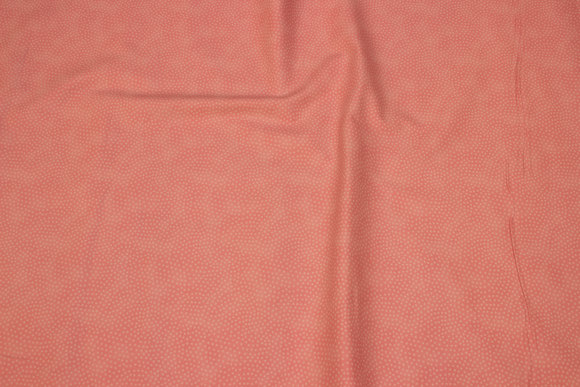 Flamy soft red patchwork cotton with mini-dots