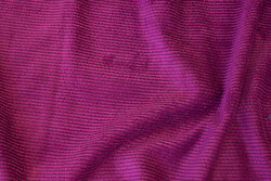 Fuchsia-colored, soft polyester corduroy