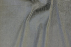 Grey, changing faux thai silk in polyester