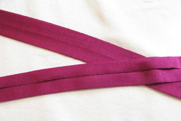 Jersey ribbon pink 2 cm