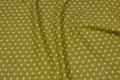 Kiwi-green cotton with white 1 cm stars