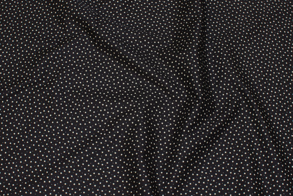 Light, black cotton with mini stars