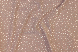 Light dusty old rose cotton-jersey with white dots