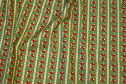 Light green christmas-cotton with red socks