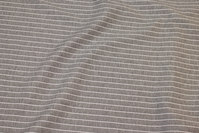 Light grey heavyjersey with white stripes along fabric length