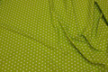 Lime-green cotton-poplin with white 1 cm stars.