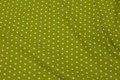 Lime-green cotton-poplin with white 1 cm stars