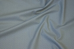 Mouse-grey, firm cotton with discrete mini-pattern
