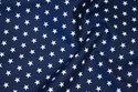 Navy cotton-poplin with 8 mm white stars
