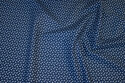 Navy, firm cotton with white mini-flowers