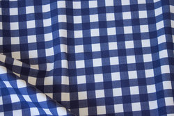 Navy and white cotton-jersey with ca. 1 cm checks