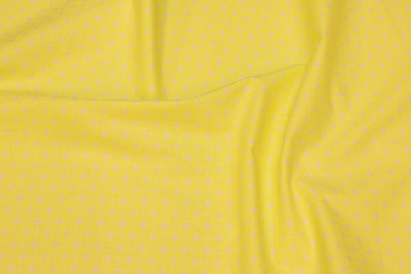 Neongul cotton with small white pattern