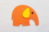 Orange elephant patch 8 x 7 cm