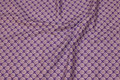 Purple patchwork cotton with small leaf-pattern