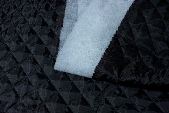 Quilted lining in in black