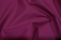 Red-blue patchwork cotton with small stripes