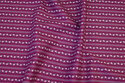 Red-purple, firm cotton with flowers-stripes on langs