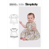 Babies Dresses. Simplicity 9243.