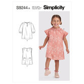 Toddlers Dresses. Simplicity 9244.
