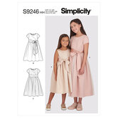 Childrens and girls dresses. Simplicity 9246.