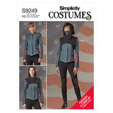 Jacket, Pants, Cropped Hooded Tabard, Mask. Simplicity 9249.