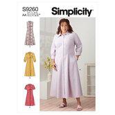 Button front dresses. Simplicity 9260.