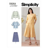 Tops and pull-on skirt. Simplicity 9264.