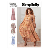 Tiered Dresses. Simplicity 9265.