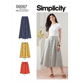 Skirt in three lengths. Simplicity 9267.