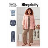 Jacket, knit top and pants. Simplicity 9269.