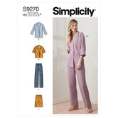 Tops and pants in two lengths. Simplicity 9270.
