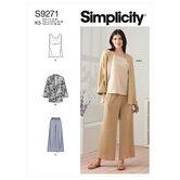 Jacket, top and pants. Simplicity 9271.