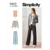 Knit cardigan top and pants. Simplicity 9272.