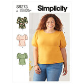 Knit tops with scoop neck and sleeve variations. Simplicity 9273.