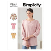 Tops in two lengths. Simplicity 9274.