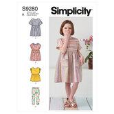 Childrens dresses, top and leggings. Simplicity 9280.