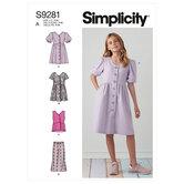 Girls dresses, top and pants. Simplicity 9281.