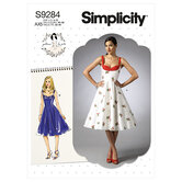 Sweetheart-neckline dresses. Simplicity 9284.