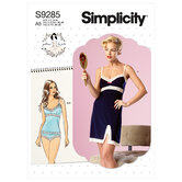 Camisoles, slip and panties. Simplicity 9285.