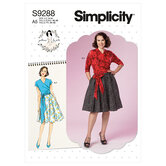 Wrap top and flared skirt. Simplicity 9288.