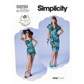 Petite bolero, bustier, sarong and shorts. Simplicity 9290.